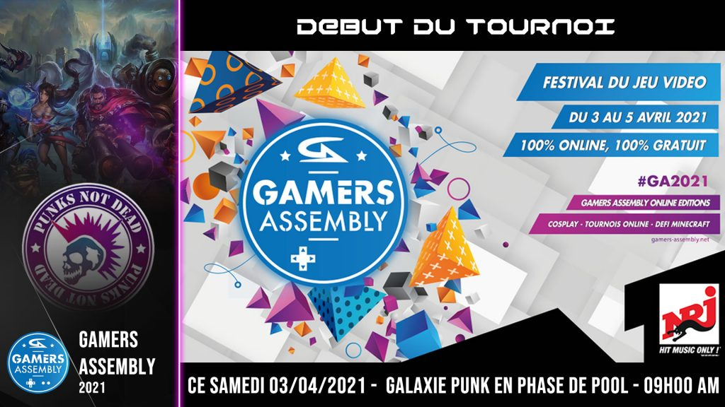 GAMERS ASSEMBLY 2021 – 03/04/2021 – PHASE DE POOL à 09h00 du matin