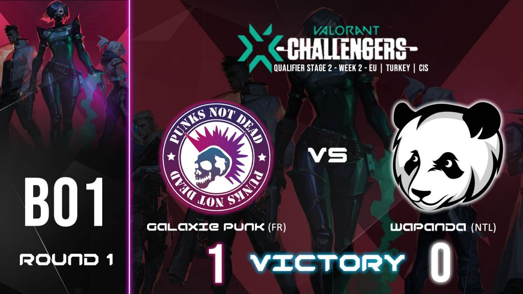 GALAXIE PUNK vs WAPANDA – VALORANT CHAMPIONS TOUR STAGE 2 WEEK 2 – BO1 ROUND 1 – VICTORY