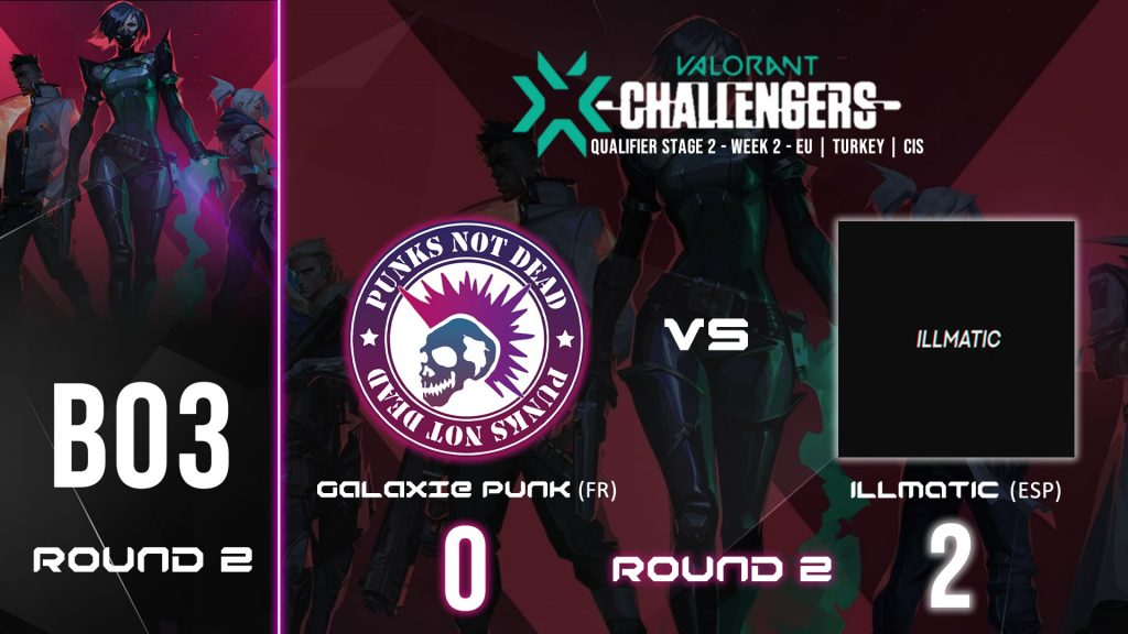 GALAXIE PUNK vs ILLMATIC – VALORANT CHAMPIONS TOUR STAGE 2 WEEK 2 – BO3 ROUND 2 – DEFAITE